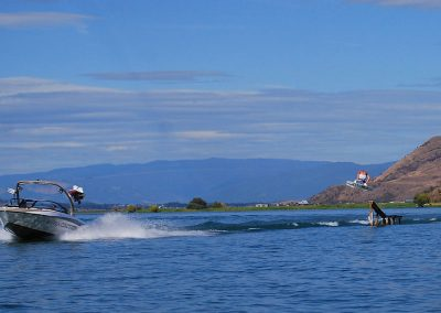 Wakeboarding on Okanagan Lake